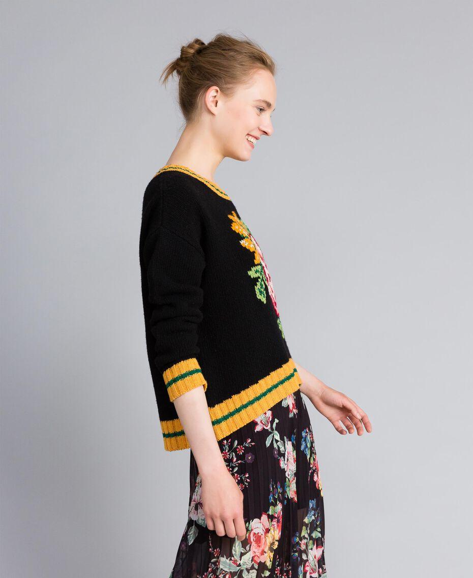 Wool blend jumper Black Woman PA83HR-02