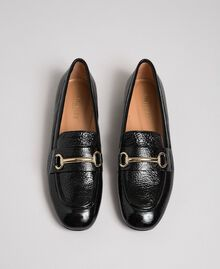 Patent leather moccasins Black Woman 192TCP124-03