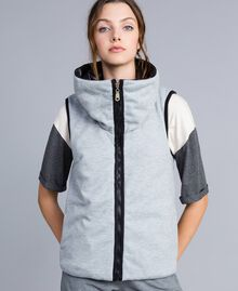 Reversible quilted gilet Black Woman IA85QQ-05