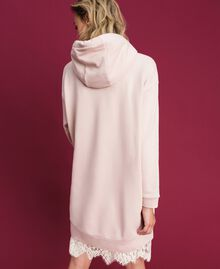 Oversize sweatshirt with print in front Bud Pink Woman 192TT2130-04
