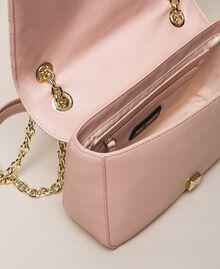 Faux leather shoulder bag with charms Quartz Pink Woman 201MA7043-05