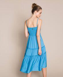 "Skirt-dress with flounces ""Waterfall"" Blue Woman 201LB2BEE-05"