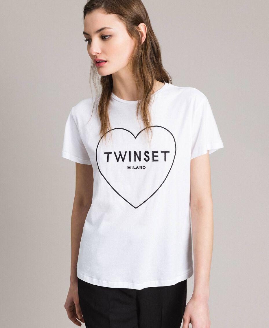 Logo t-shirt White Woman 191TP2606-02