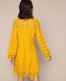 Macramé lace dress Black Cherry Woman 201TP2031-03