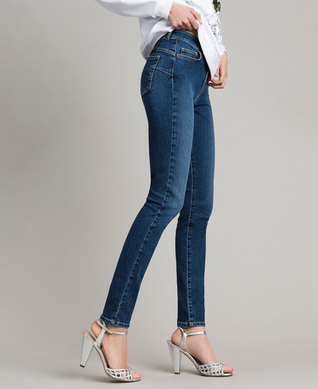 Jeans skinny con charms Denim Blue Donna JCN2V3-01
