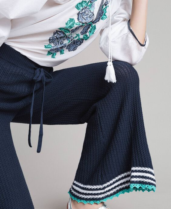 Knitted palazzo trousers
