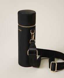 Trinkflaschenset mit Tasche aus technischem Satin Schwarz Frau 202TD8086-05