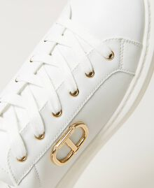 Sneakers con logo Bianco Donna 211TCT01A-04