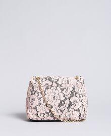 Umhängetasche aus Lederimitat mit Bezug aus Spitze Hellrosa Frau AA8PFQ-03