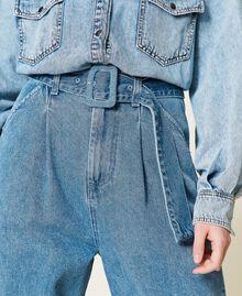 """Jeans 'Azurite' con cintura Blu """"Denim Medio"""" Donna 212AP238A-05"""