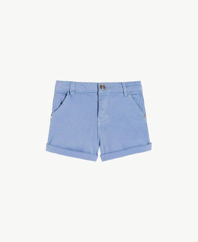 Shorts aus Baumwolle Unendlichkeits-Azur Kind FS82CQ-01