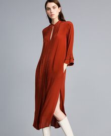 Robe longue en soie mélangée avec strass Brûlé Femme TA8233-01