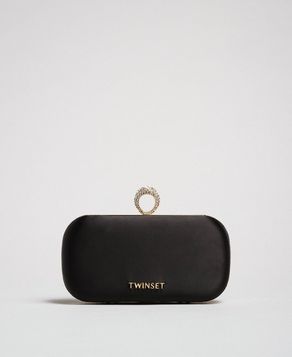 Атласная сумка-пошет Черный женщина 192TQ706A-01