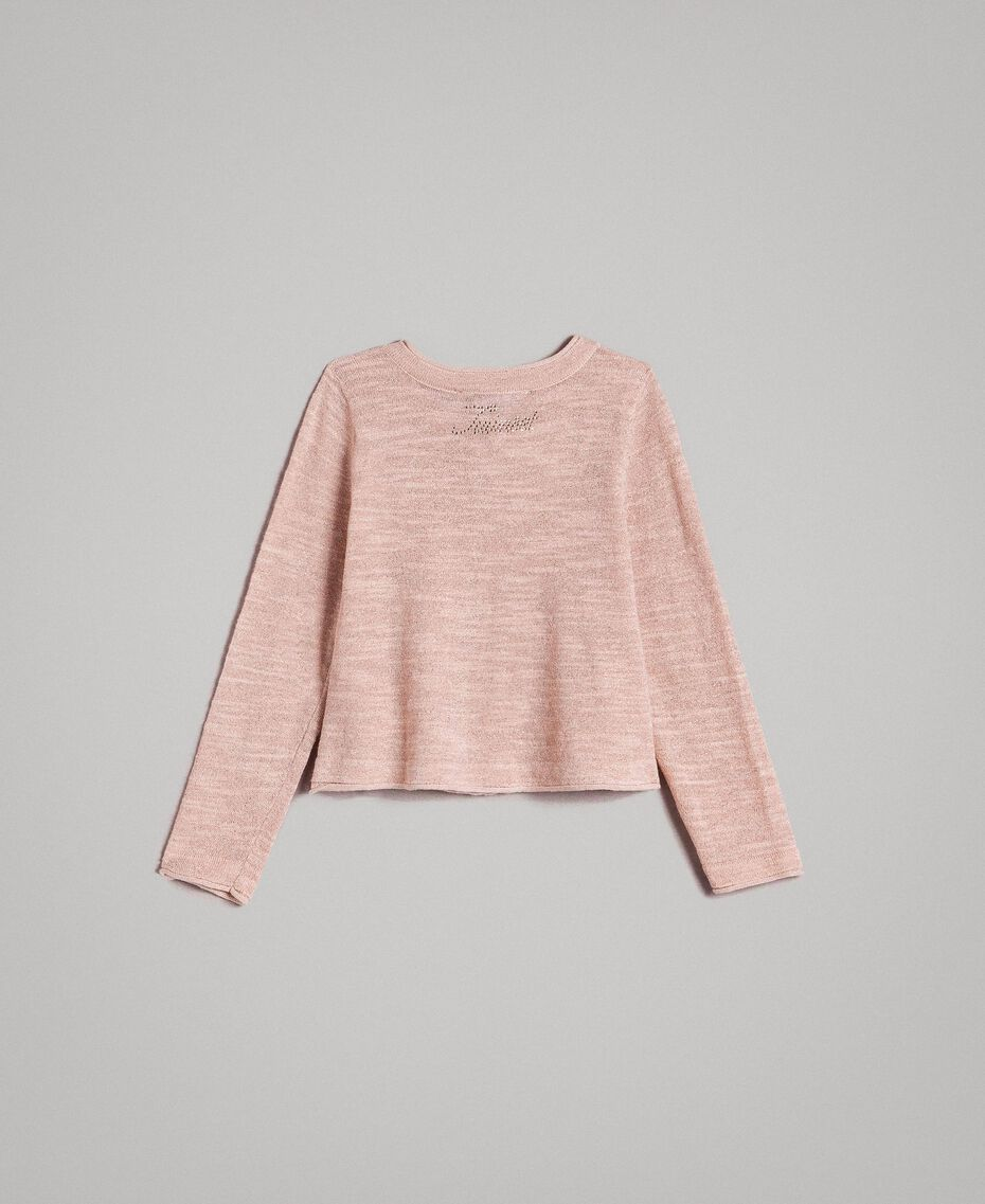 Вязаный кардиган из смесового люрекса Розовый Blossom Pебенок 191GB3060-0S
