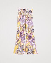 "Paisley print palazzo trousers ""Milkyway"" Beige / Paisley Print Woman 191LM2SAA-0S"