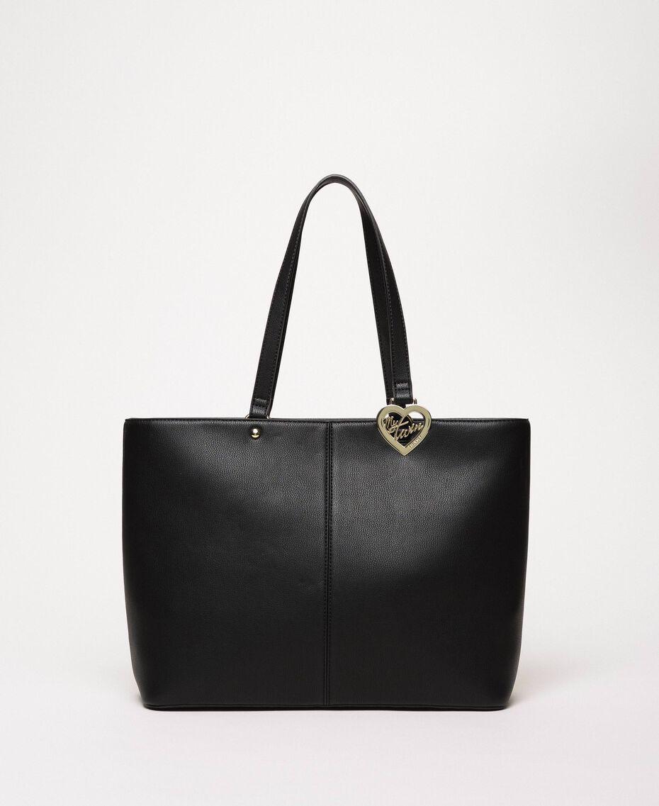 Sac cabas en similicuir avec foulard Noir Femme 201MA7080-02