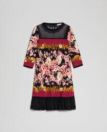 Robe avec imprimé foulard floral et dentelle Imprimé Foulard Femme 192TP3361-0S