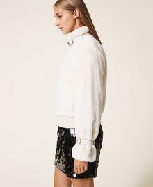 Faux fur jacket Creamy White Woman 202MP203A-03