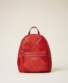 Faux leather backpack Cherry Red Woman 202MA7021-01