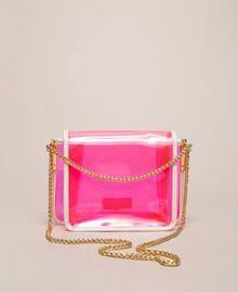 Bea Bag en PVC avec chaîne à bandoulière Fuchsia Fluo Femme 201TO8200-04