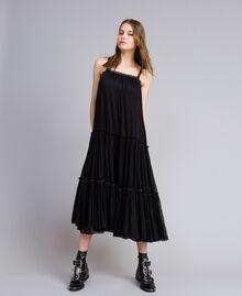 Robe volantée en tulle Noir Femme JA82MA-01
