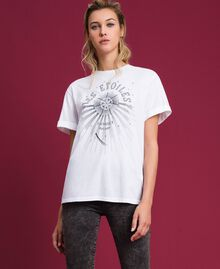 T-shirt with print White Woman 192TT2561-01