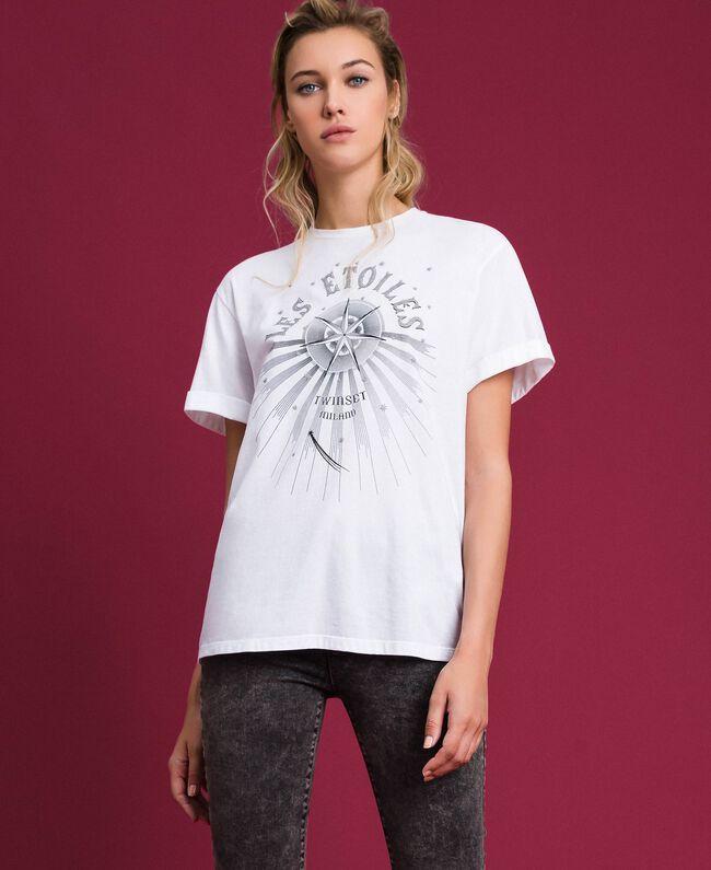 T-shirt imprimé Blanc Femme 192TT2561-01