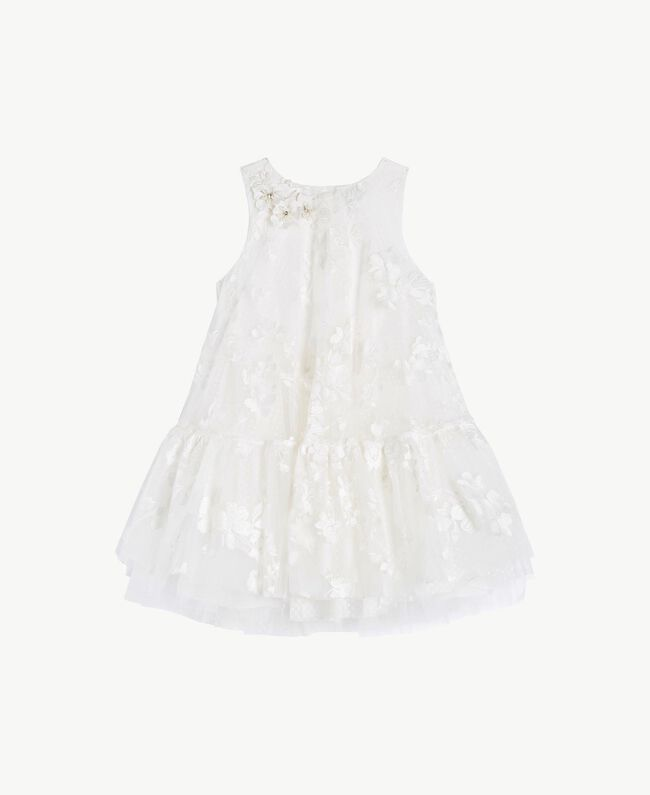 "Robe tulle Blanc ""Papers"" Enfant GS8LCA-01"