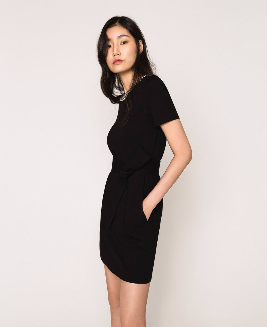 Dress with studs Black Woman 201MP2211-02