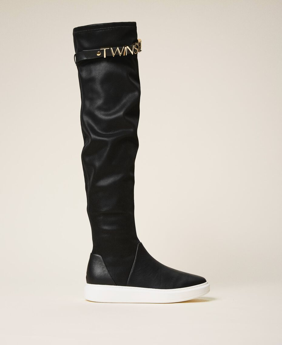 Trainer boots with logo Black Woman 202TCP038-01