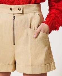 "High-Waist-Shorts ""Cuban Sand""-Rosa Frau 211TT2073-04"
