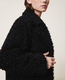 Manteau long en fausse fourrure Noir Femme 202MP2271-04