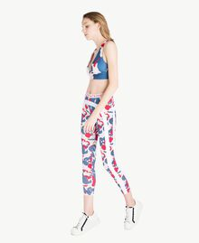 "Printed leggings ""Camouflower"" Print Woman LS86JJ-03"