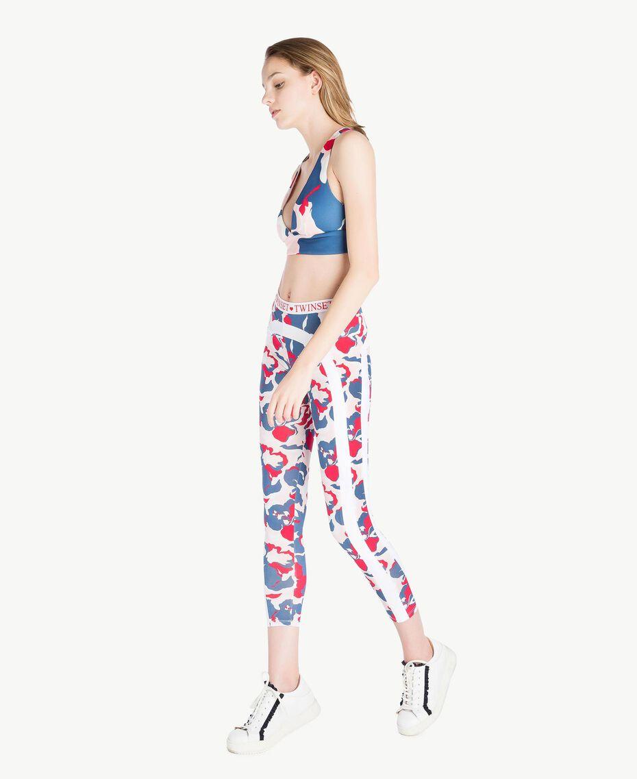 "Printed leggings ""Camouflower"" Print Woman LS86JJ-03"