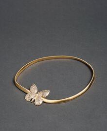 Schmuckgürtel mit Schmetterlingschnalle Gold Gelb Frau 192TA430G-01