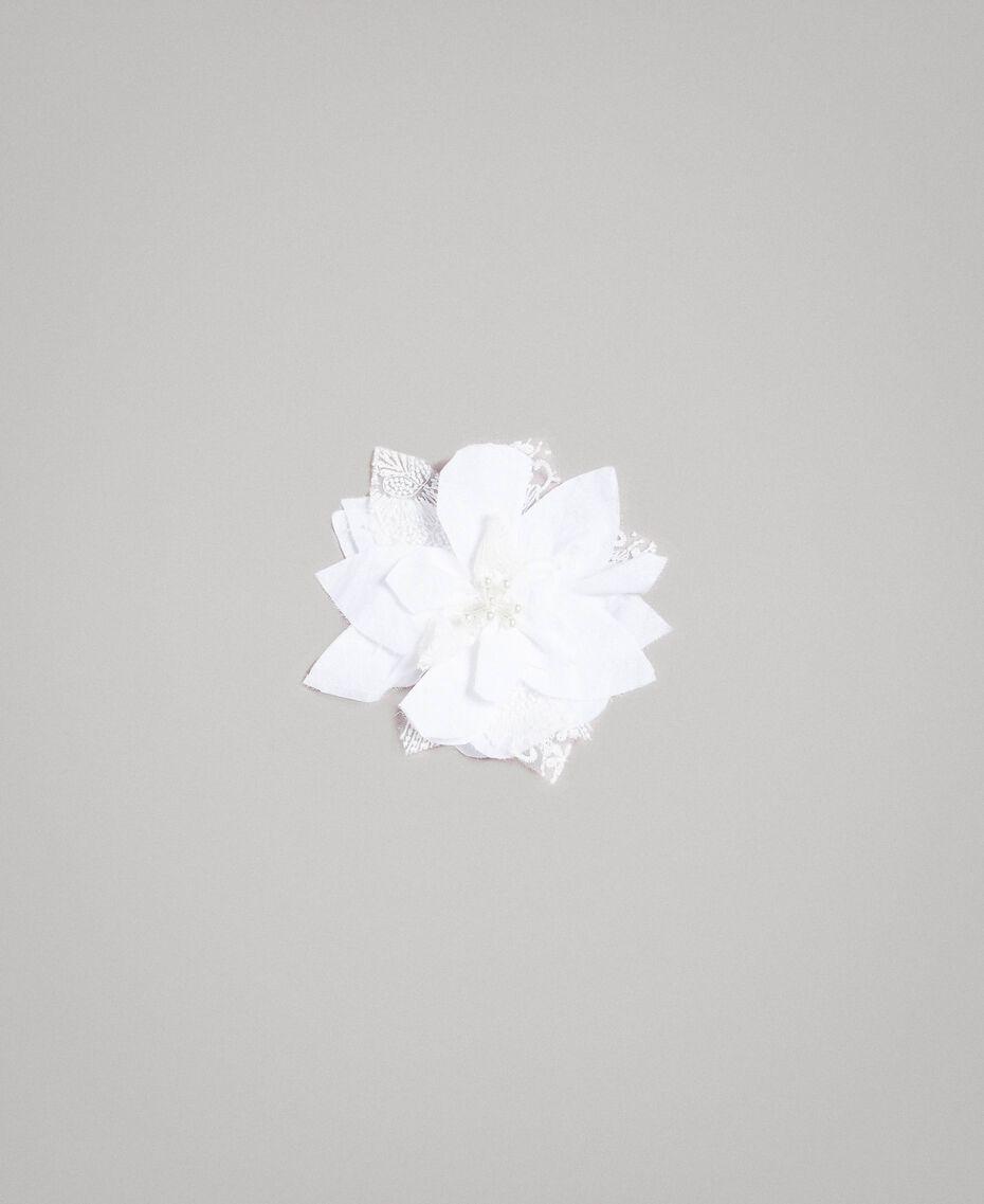 Popeline-Jumpsuit und Organza-Bluse Weiß Kind 191GJ2QB0-20