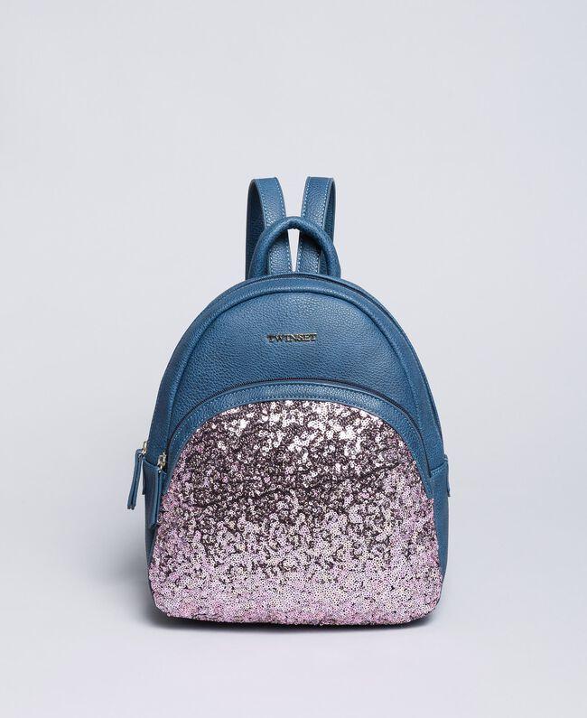 Рюкзак из искусственной кожи с пайетками Синий Blackout Pебенок GA87CN-01