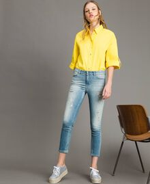 Skinny jeans with rips Denim Blue Woman 191MP2472-02