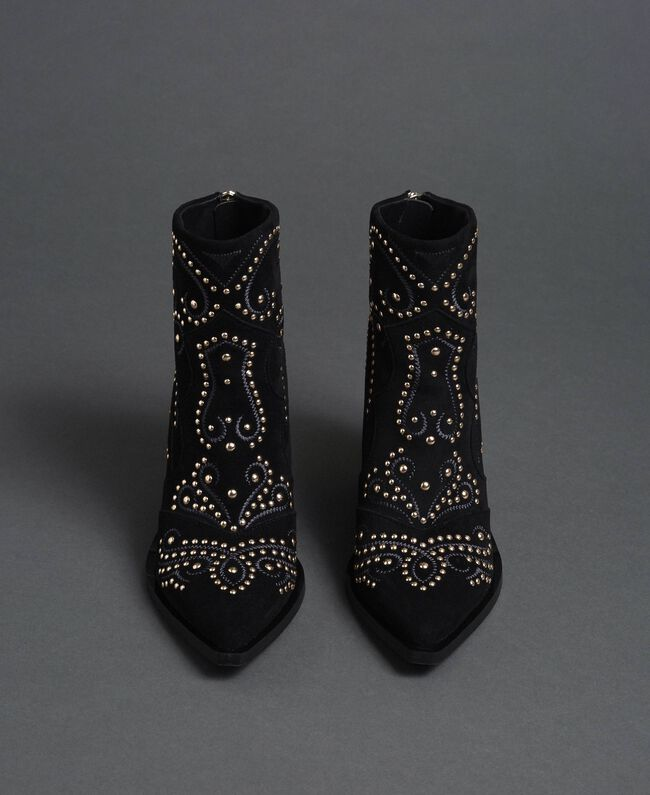 Studded ankle boots Black Woman 192MCP016-04