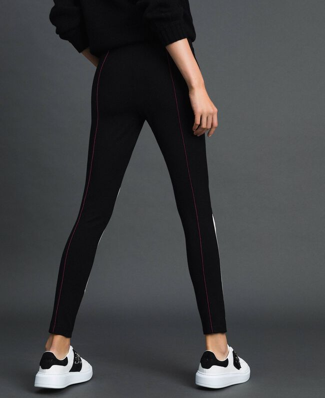 "Leggings color block Nero / Bianco ""Vaniglia"" Donna 192MT2270-04"