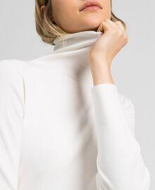 Robe longue en maille Blanc Vanille Femme 192MT3014-05