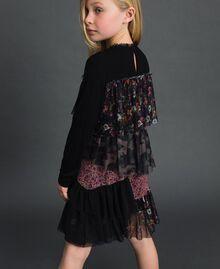 Robe volantée avec mélange d'imprimés Imprimé Mélangé Fantaisie Enfant 192GJ2500-03