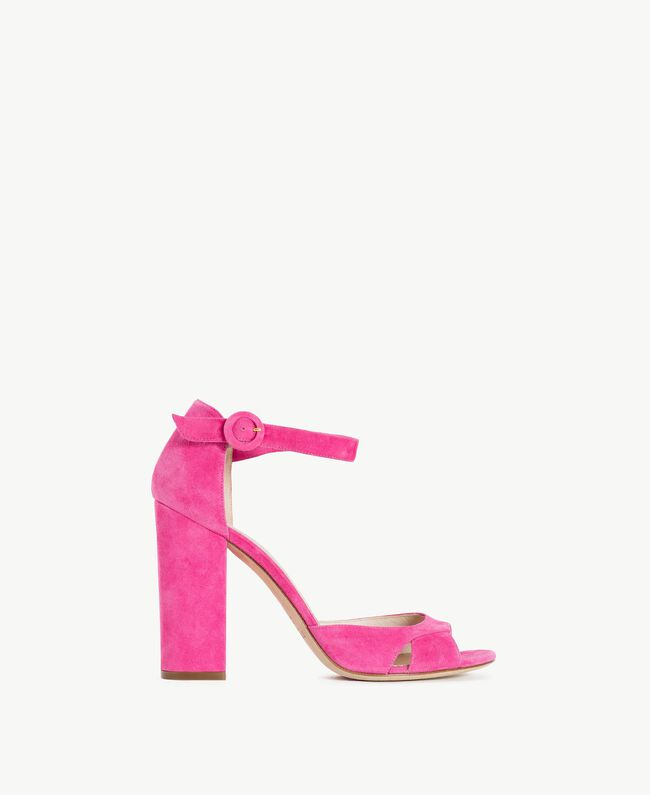 TWINSET Suede sandals Provocateur Pink Woman CS8TDU-01