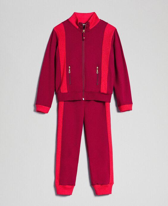 Sweat color block avec fermeture éclair et pantalon de jogging