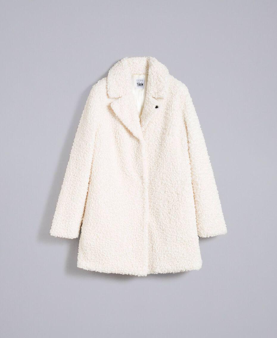 Manteau en faux agneau Nacre Femme JA82KN-0S