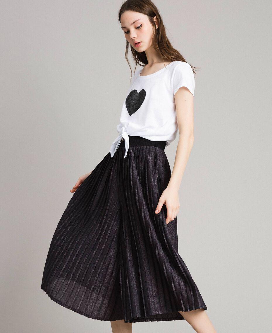 Pantacourt en lurex Noir Femme 191LB23AA-02