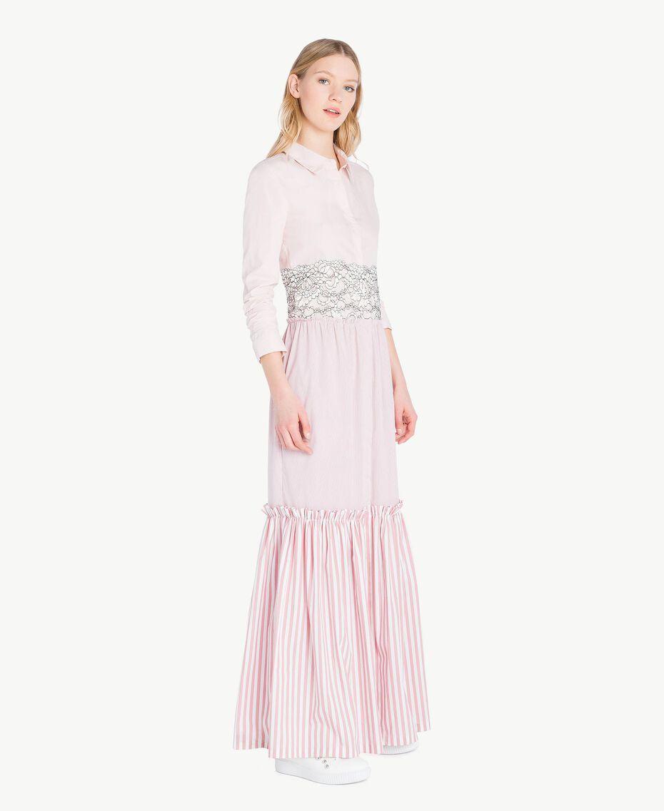 Long patchwork dress Quartz Pink Woman JS82D7-02