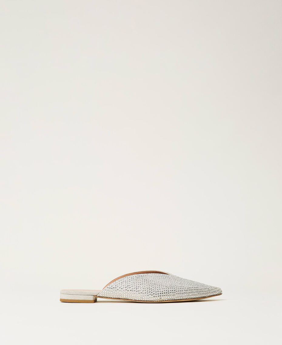 "Rhinestone slippers ""Crystal Rhinestone"" White Woman 211TCT090-02"