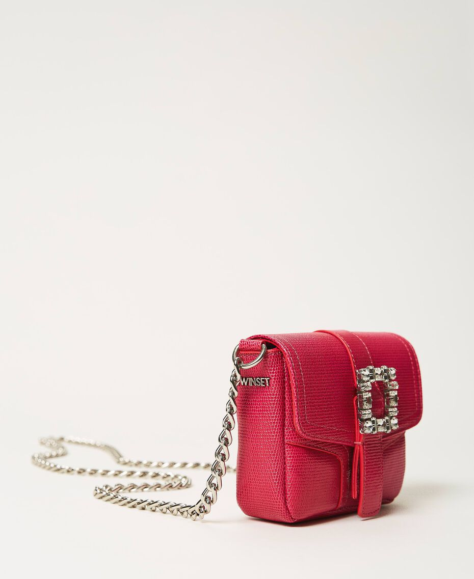 Small Rebel shoulder bag with jewel buckle Black Cherry Woman 202TB7140-02