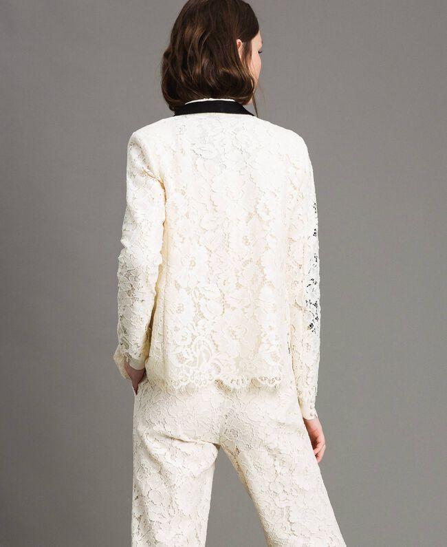 Macramé lace tuxedo jacket White Snow Woman 191TP2254-03
